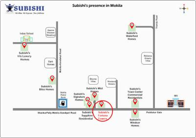 Project Image of 2280.01 - 2797.54 Sq.ft 3 BHK Apartment for buy in Subishi Fortuna Towers