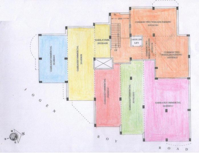 Project Image of 850.0 - 1200.0 Sq.ft 2 BHK Apartment for buy in Purba Swapna Neer Apartment