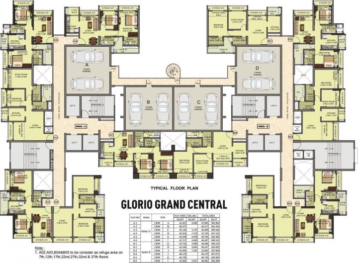 Project Image of 456.0 - 503.0 Sq.ft 2 BHK Apartment for buy in Puraniks Glorio Grand Central