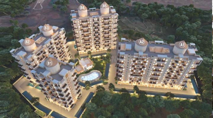 Project Image of 570.0 - 714.0 Sq.ft 2 BHK Apartment for buy in Nyati Evara II