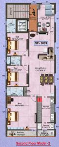 Project Image of 0 - 1689.0 Sq.ft 3.5 BHK Apartment for buy in G K Malligai Flats