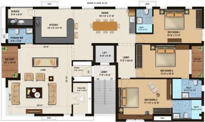 इनोवेटिव अन्ना नगर में खरीदने के लिए 0 - 1256.0 Sq.ft 3 BHK अपार्टमेंट प्रोजेक्ट  की तस्वीर