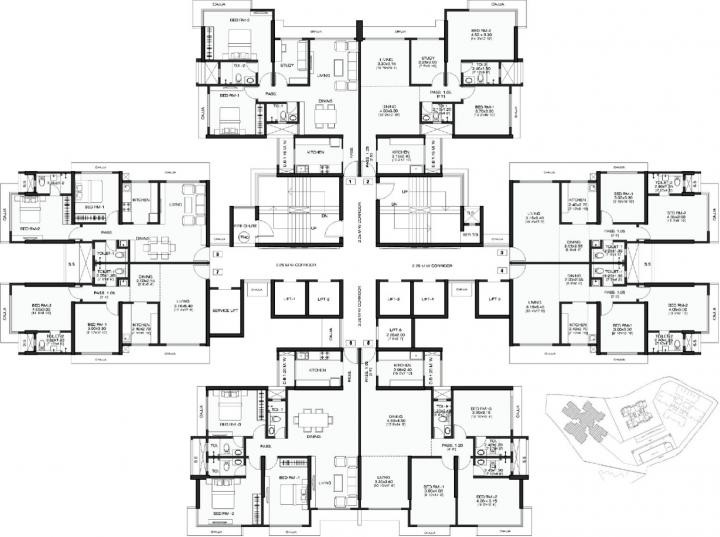 Project Image of 711.06 - 1104.59 Sq.ft 2 BHK Apartment for buy in Wadhwa Anmol Fortune III