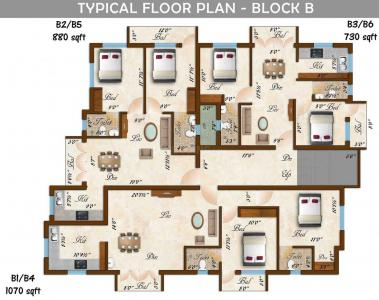 Project Image of 1020.0 - 1300.0 Sq.ft 2 BHK Apartment for buy in Rams Sarovar