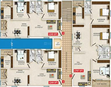Project Image of 1249.0 - 1798.0 Sq.ft 2 BHK Apartment for buy in Gothic Photon B