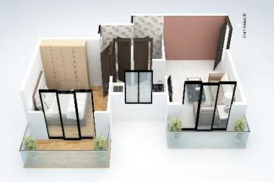 Gallery Cover Image of 595 Sq.ft 1 BHK Apartment for buy in DGS Sheetal Deep, Nalasopara West for 2400000