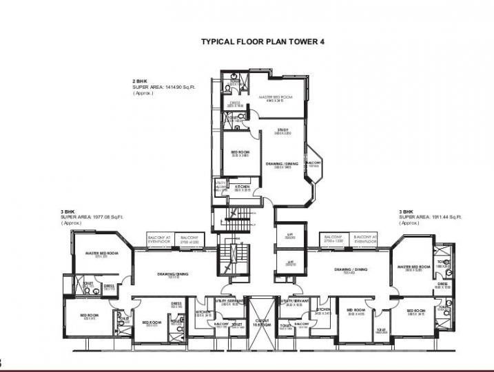 Project Image of 425.0 - 1820.0 Sq.ft 1 BHK Apartment for buy in Jaypee Moon Court