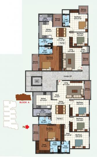 Project Image of 1070.0 - 2080.0 Sq.ft 2 BHK Apartment for buy in  Amrutha