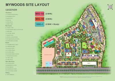 Project Image of 850 - 1125 Sq.ft 2 BHK Apartment for buy in Mahagun Mahagun My Woods