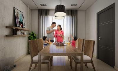 Gallery Cover Image of 834 Sq.ft 2 BHK Apartment for buy in Bengal Peerless Avidipta Phase II, Mukundapur for 6300000