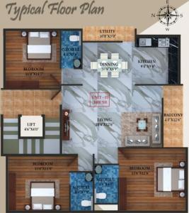 Project Image of 0 - 1600.0 Sq.ft 3 BHK Apartment for buy in Laavanya Sumeru Elite