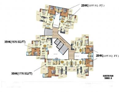 Gallery Cover Image of 1195 Sq.ft 2 BHK Apartment for buy in Angel Angel Mercury, Ahinsa Khand for 5500000