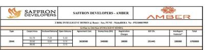 Project Image of 557.0 - 635.0 Sq.ft 2 BHK Apartment for buy in Saffron Amber
