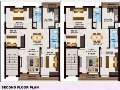 Project Image of 705.0 - 1083.0 Sq.ft 2 BHK Apartment for buy in Adir Amber