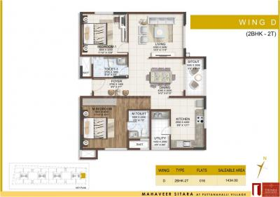 Project Image of 1095.99 - 2438 Sq.ft 3 BHK Apartment for buy in Mahaveer Sitara