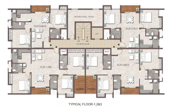 Project Image of 638.95 - 1457 Sq.ft 2 BHK Apartment for buy in Jain Anukriti