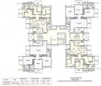 Gallery Cover Image of 1330 Sq.ft 3 BHK Independent Floor for rent in Ansal API Maple Heights, Sushant Lok I for 35000