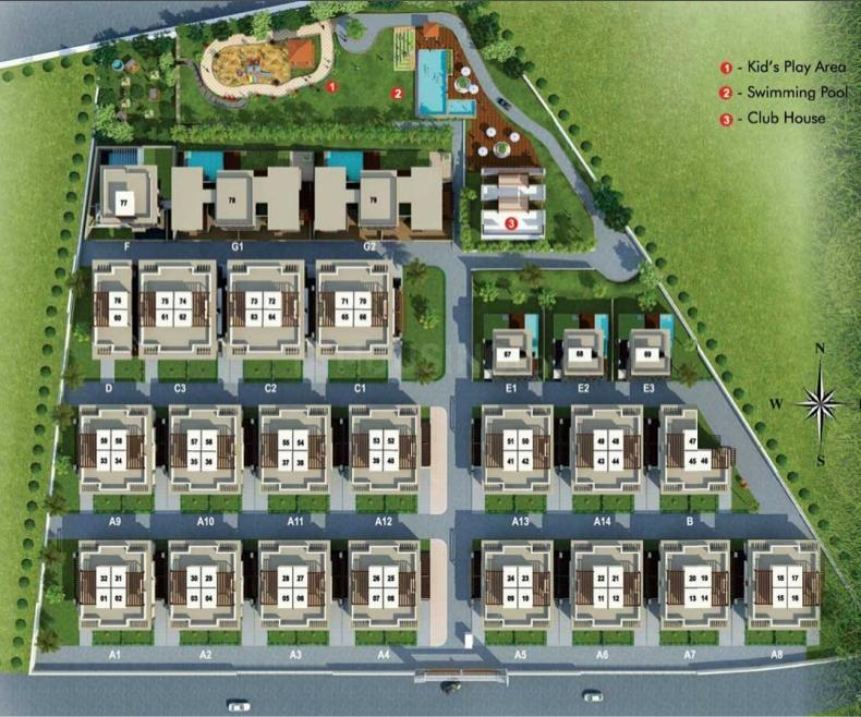 Project Image of 2800.0 - 7008.0 Sq.ft 3 BHK Villa for buy in Disha Purple Seasons