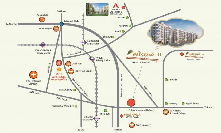 Project Image of 380.0 - 765.0 Sq.ft 1 RK Apartment for buy in Shree Vasturachana Gokul Complex II