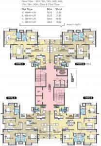 Project Image of 0 - 2138.0 Sq.ft 4 BHK Apartment for buy in Sureka Sunrise Heights