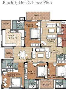 Gallery Cover Image of 1952 Sq.ft 3 BHK Apartment for buy in City, Sector 76 for 9800000