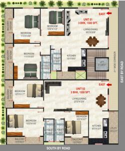 एसएलवी पार्क व्यू में खरीदने के लिए 0 - 1500.0 Sq.ft 3 BHK अपार्टमेंट प्रोजेक्ट  की तस्वीर