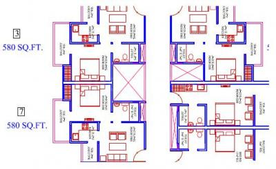 Gallery Cover Image of 410 Sq.ft 1 RK Apartment for rent in Habitech Spectrum, Noida Extension for 9000