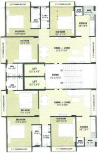 Project Image of 0 - 859.07 Sq.ft 3 BHK Apartment for buy in F S Ahmed E Bad Ark