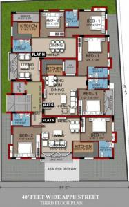 Project Image of 1040.0 - 1580.0 Sq.ft 2 BHK Apartment for buy in Vishnoo Mayuravalli Apartment Mylapore