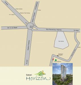 Gallery Cover Image of 2025 Sq.ft 3 BHK Apartment for rent in Sabari Horizion, Anushakti Nagar for 85000