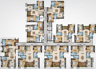 Project Image of 968.0 - 1535.0 Sq.ft 2 BHK Apartment for buy in Sristi Millennium