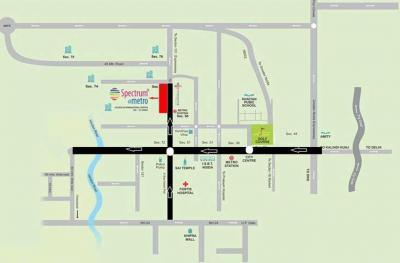 ब्लू स्क्वायर स्पेकट्रम एट मेट्रो फेज 2 में खरीदने के लिए 2 - 22458.9 Sq.ft Shop शॉप प्रोजेक्ट  की तस्वीर