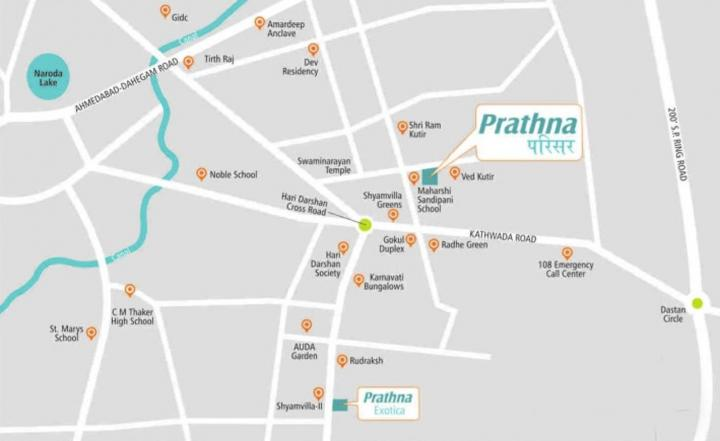 Project Image of 963 - 1278 Sq.ft 2 BHK Apartment for buy in Prathna Parisar