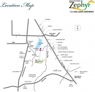 Gallery Cover Image of 1461 Sq.ft 3 BHK Apartment for rent in Mahaveer Zephyr, Bommanahalli for 27000