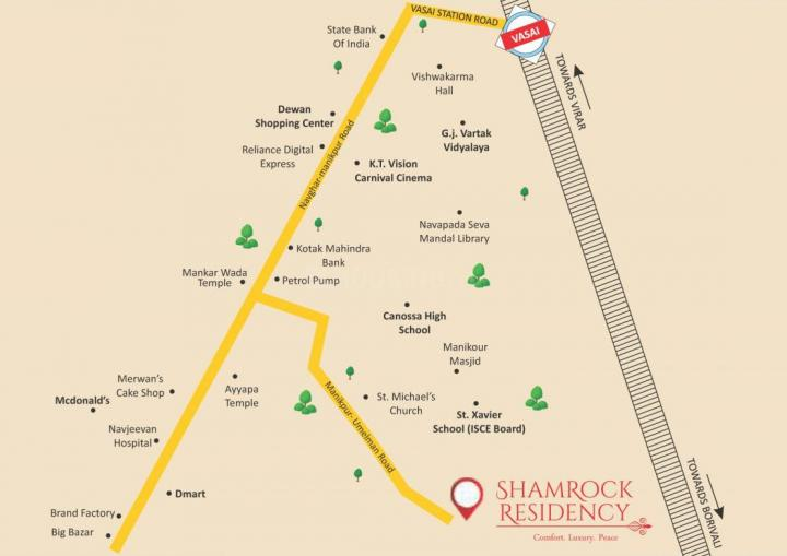 Project Image of 570.0 - 780.0 Sq.ft 1 BHK Apartment for buy in Shamrock Residency