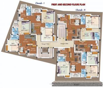 शिवराम्स चिनाब में खरीदने के लिए 812.0 - 899.0 Sq.ft 2 BHK अपार्टमेंट प्रोजेक्ट  की तस्वीर