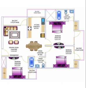 Gallery Cover Image of 1410 Sq.ft 3 BHK Apartment for rent in Gardenia Glory, Sector 46 for 18000