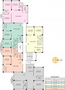 Gallery Cover Image of 1200 Sq.ft 3 BHK Apartment for buy in Jain Dream Apartments, Rajarhat for 5200000