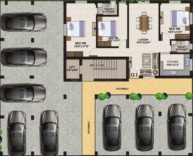 Project Image of 895.0 - 1394.0 Sq.ft 2 BHK Apartment for buy in Global Orchid