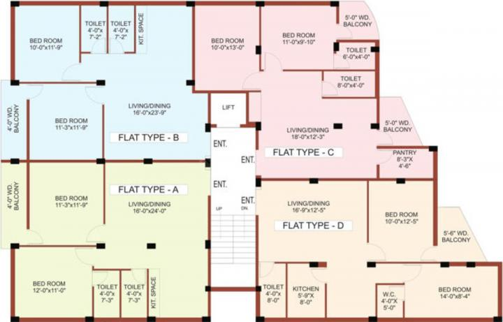 Project Image of 543.0 - 943.0 Sq.ft 1 BHK Apartment for buy in Divya Bishnupriya