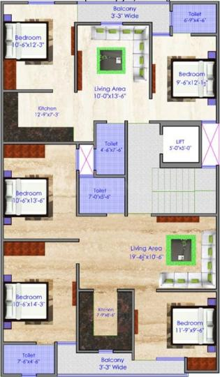 Project Image of 450.0 - 900.0 Sq.ft 1 BHK Apartment for buy in Globe Homes 3