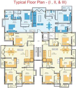 Project Image of 1481.0 - 1515.0 Sq.ft 3 BHK Apartment for buy in Golden Platinum 61 63