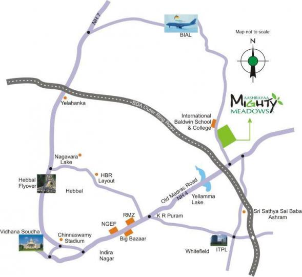 Project Image of 1200.0 - 4050.0 Sq.ft Residential Plot Plot for buy in Aashrayaa Mighty Meadows