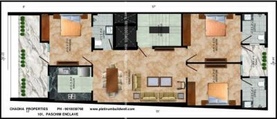 Project Image of 1250 - 1500 Sq.ft 3 BHK Builder Floor for buy in Platinum Chadha Homes