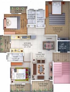 Project Image of 0 - 1575 Sq.ft 3 BHK Apartment for buy in Sri Swapnapurti Shree Ganesh Apartment Nagpur