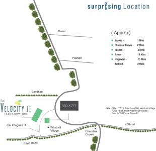 Project Image of 255.64 - 570.59 Sq.ft 1 BHK Apartment for buy in Prithvi Sai Velocity II