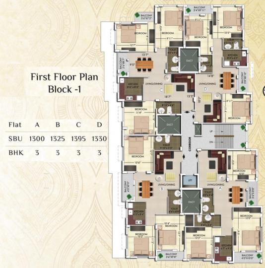 Project Image of 1000.0 - 1395.0 Sq.ft 2 BHK Apartment for buy in Rajwada Nirvana