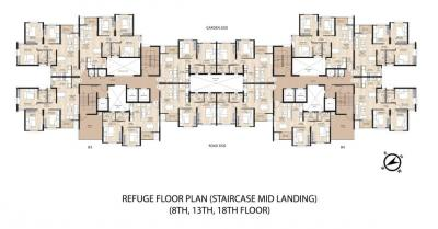 Project Image of 643.0 - 861.0 Sq.ft 2 BHK Apartment for buy in Shapoorji Pallonji Howrah Tower B3 And B4 Western Heights A And B