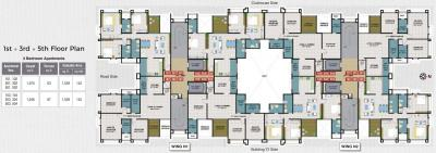 Project Image of 902 - 954 Sq.ft 3 BHK Apartment for buy in Kumar Picasso Phase II