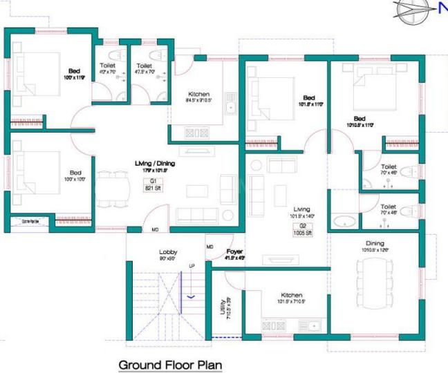 Project Image of 821.0 - 1559.0 Sq.ft 2 BHK Apartment for buy in Alankar Chakrika